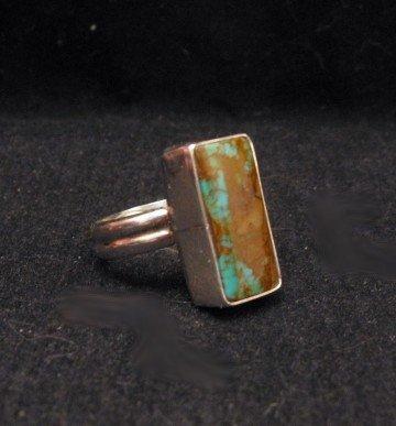 Image 2 of Navajo Everett & Mary Teller Royston Turquoise Ring sz4