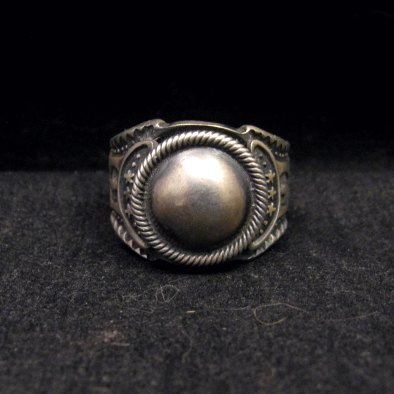 Image 0 of Gary Reeves ~ Navajo ~ Old Pawn Style Sterling Silver Ring sz7-1/2