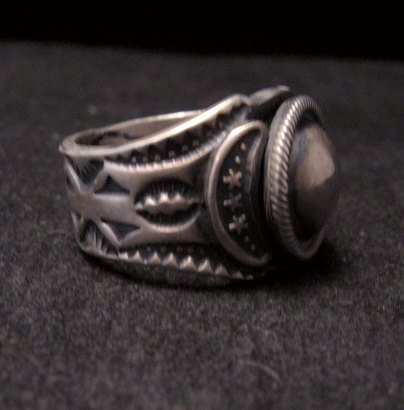 Image 1 of Gary Reeves ~ Navajo ~ Old Pawn Style Sterling Silver Ring sz7-1/2