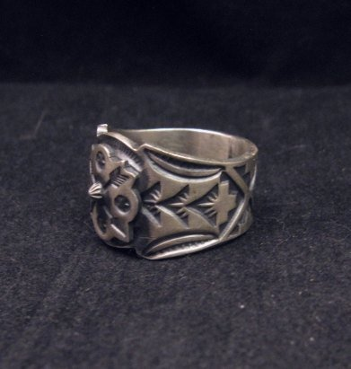 Image 1 of Gary Reeves Navajo Crossed Arrows Sterling Silver Ring sz9-1/2