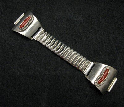 Image 0 of Vintage Native American Pawn Coral Watch Tips