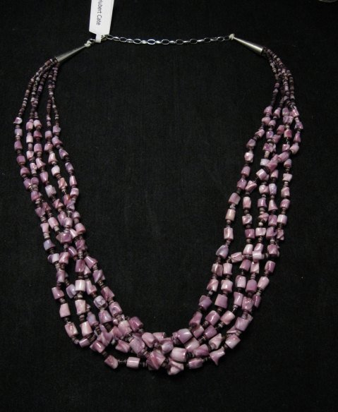 Image 0 of 5-strand Sabu Tulip Shell Nugget Necklace by Hubert Cate, Santo Domingo