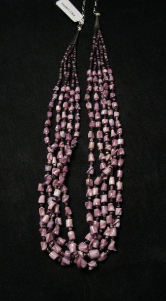 Image 1 of 5-strand Sabu Tulip Shell Nugget Necklace by Hubert Cate, Santo Domingo