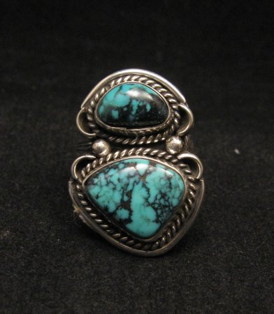Navajo Native American Turquoise Ring sz6-1/2 to sz7-1/2 adjustable