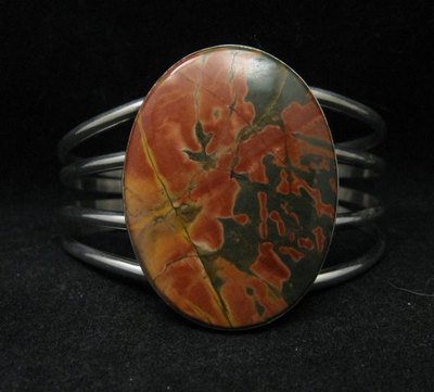 Image 0 of Navajo Indian Red Creek Jasper Bracelet, Evangie Willie