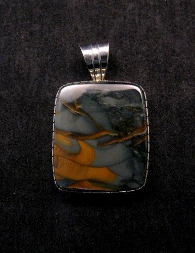 Image 0 of Navajo Morrisonite Silver Pendant, Delbert Vandever