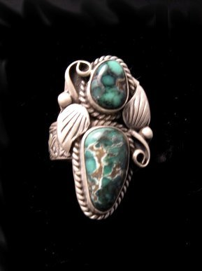 Navajo Native American Variscite Silver Ring sz6-1/2 to sz7-1/2
