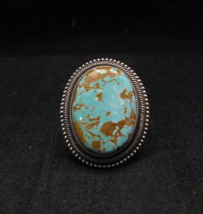 Navajo Number 8 Turquoise Silver Ring Sz11-1/2, Rick Martinez