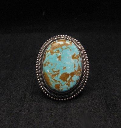 Navajo Number 8 Turquoise Silver Ring Sz11-1/2, Rick Martinez