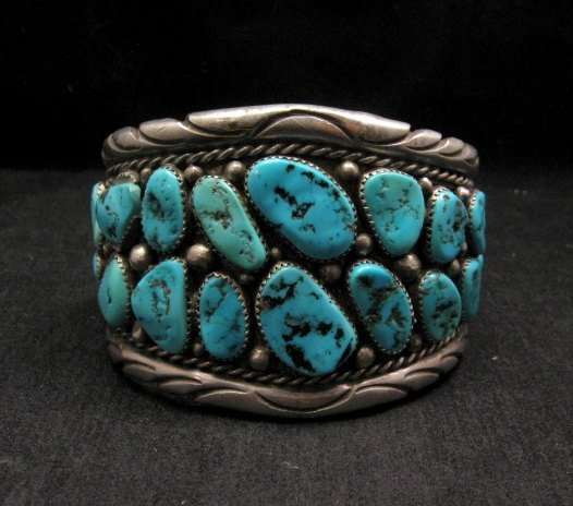 Image 1 of High Quality Native American Navajo Pawn Turquoise Cuff Bracelet
