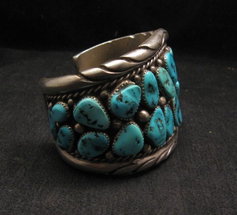 Image 2 of High Quality Native American Navajo Pawn Turquoise Cuff Bracelet