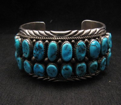 Image 0 of Big Native American Navajo Pawn Turquoise Cuff Bracelet