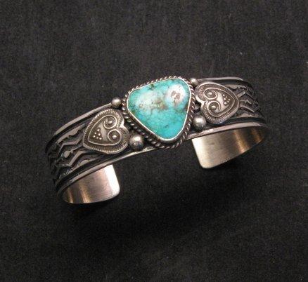 Daniel Sunshine Reeves ~ Navajo ~ Kingman Turquoise Silver Bracelet