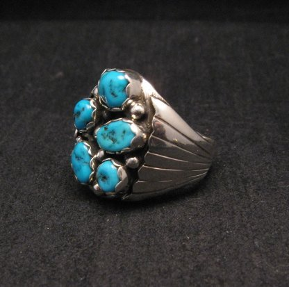 Image 2 of Navajo Turquoise Sterling Silver Mens Ring sz12, Marlene Martinez