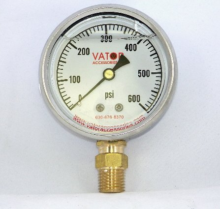Liquid Pressure Gauge 600 PSI, Gauge Only