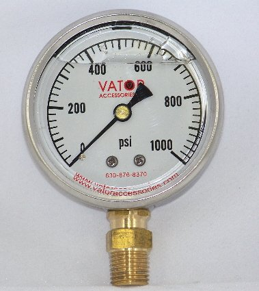 Liquid Pressure Gauge 1000 PSI, Gauge Only