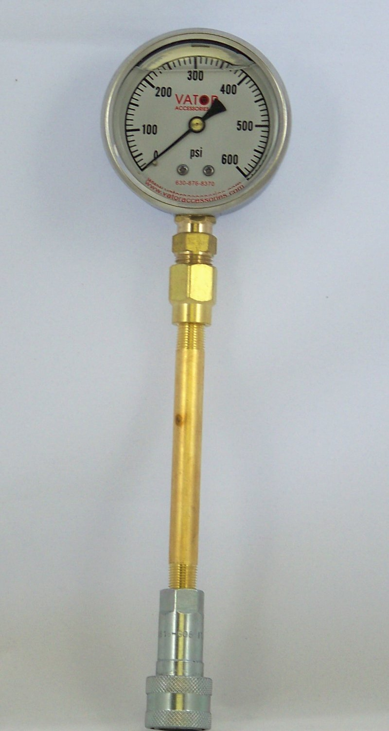 LPGA-600 Liquid Pressure Gauge Assembly w/ 1/8'' Quick Coupler