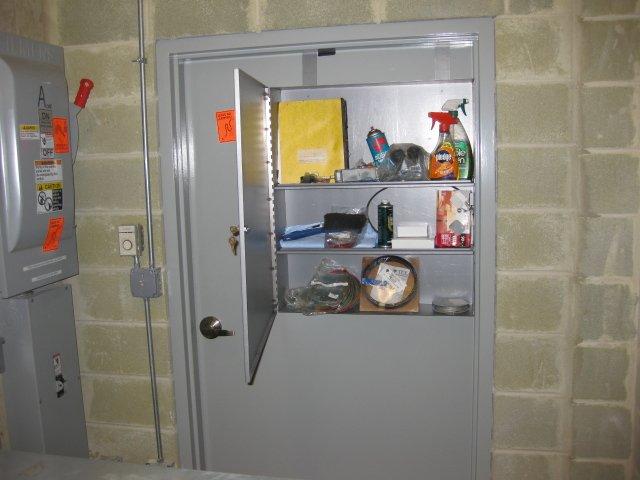 TC 1 Machine Room Door Tool Cabinet