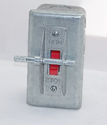 Image 0 of PS-1SGL Elevator Run-Stop Pit Switch, Steel cover with Guard and Lockout Pin