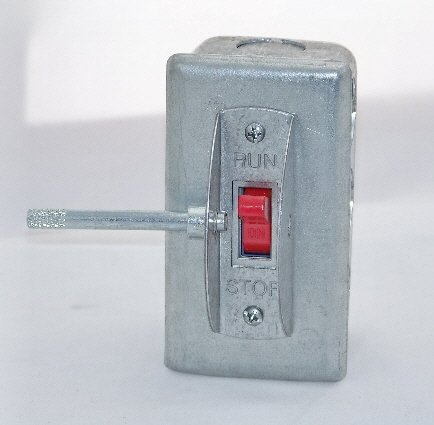 Image 1 of PS-1SGL Elevator Run-Stop Pit Switch, Steel cover with Guard and Lockout Pin