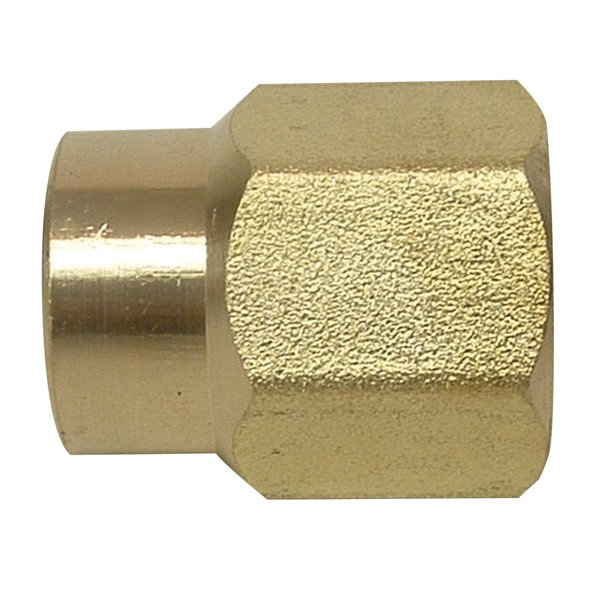 Brass Reducing Coupling 1/4'' x 1/8''
