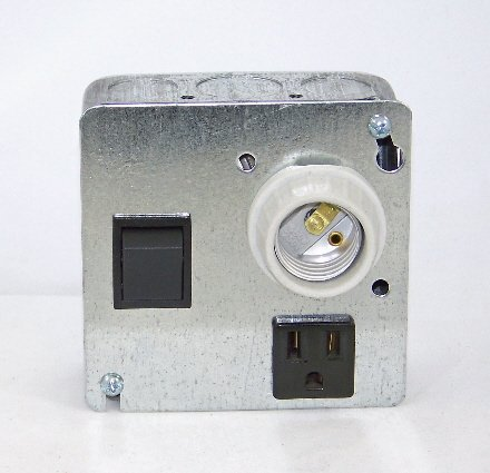 DISCONTINUED APL-3 Auxiliary Pit Light with On-Off Switch & Grounded Receptacle