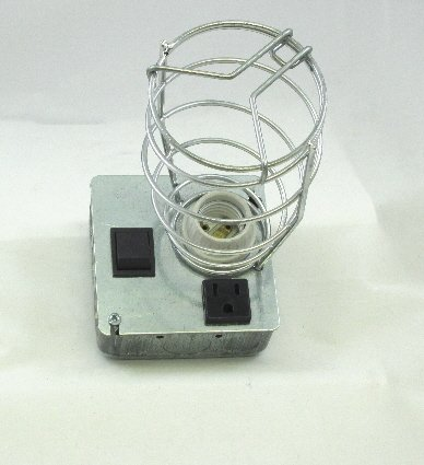 Image 1 of DISCONTINUED APL-3 Auxiliary Pit Light with On-Off Switch & Grounded Receptacle