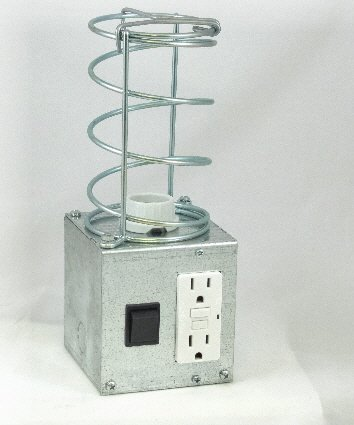 Image 1 of APL-4R Auxiliary Pit Light Convenience Center with Rocker Switch and GFCI outlet