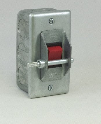 PS-1SRGL Elevator Pit Switch, Steel cover with Rocker Switch, Guard & Lockout