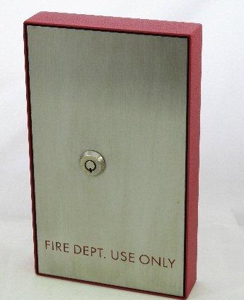 FSKB-7302R Elevator Fire Service Key Box, 7302 Lock, Red Printing