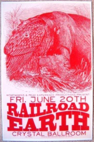 RAILROAD EARTH Gig POSTER June 2008 Portland Oregon Concert