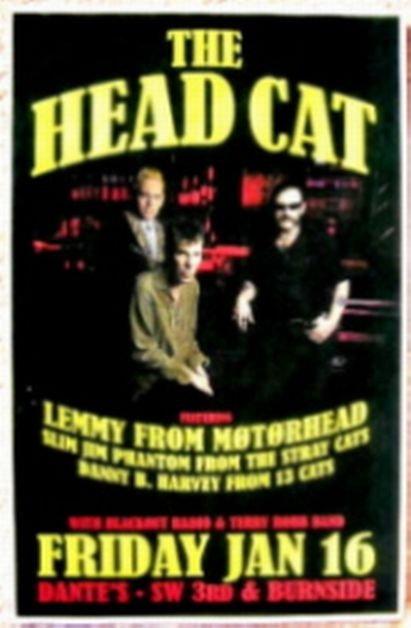 Image 0 of HEAD CAT Lemmy Motorhead 2009 Gig POSTER THE HEAD CAT Portland Oregon Concert