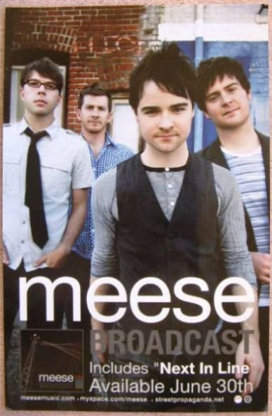 Image 0 of MEESE Broadcast Album POSTER 11x17