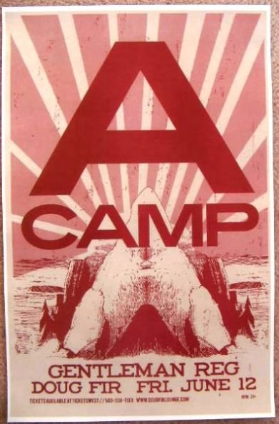 Image 0 of A CAMP Nina Persson THE CARDIGANS 2009 Gig POSTER Portland Oregon Concert