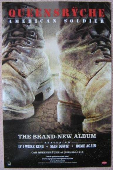 QUEENSRYCHE Album POSTER American Soldier 11x17