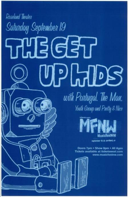 GET UP KIDS 2009 Gig POSTER Portland Oregon MFNW Musicfest NW Concert