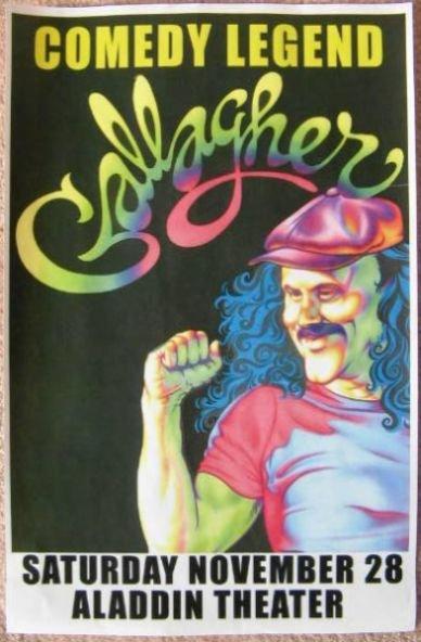 GALLAGHER Comedian 2009 Gig POSTER Portland Oregon Comedy