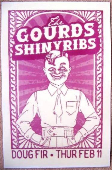 Image 0 of Gourds THE GOURDS Gig POSTER February 2010 Portland Oregon Concert