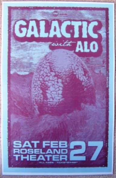 GALACTIC 2010 Gig POSTER Ya-Ka-May Portland Oregon Concert