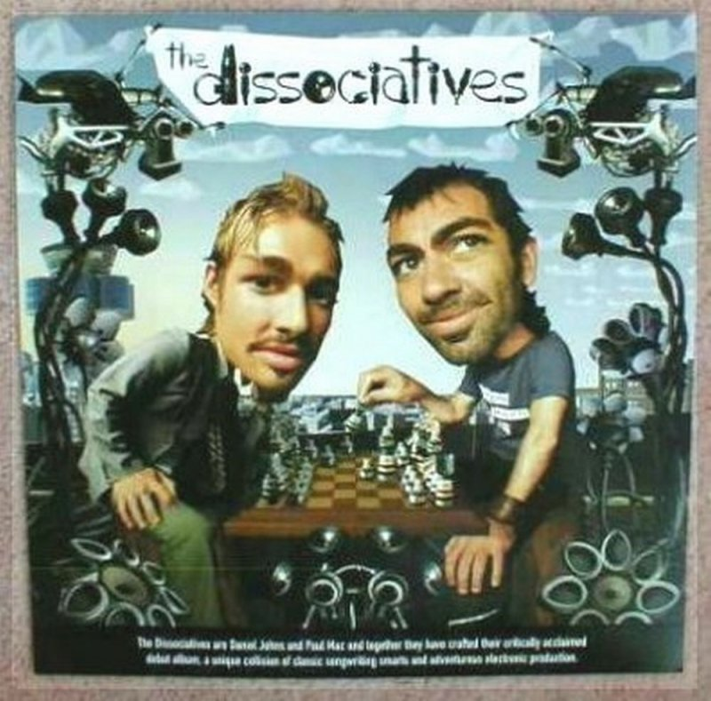Image 0 of Dissociatives THE DISSOCIATIVES Album POSTER Self-Titled 2-Sided 12x12