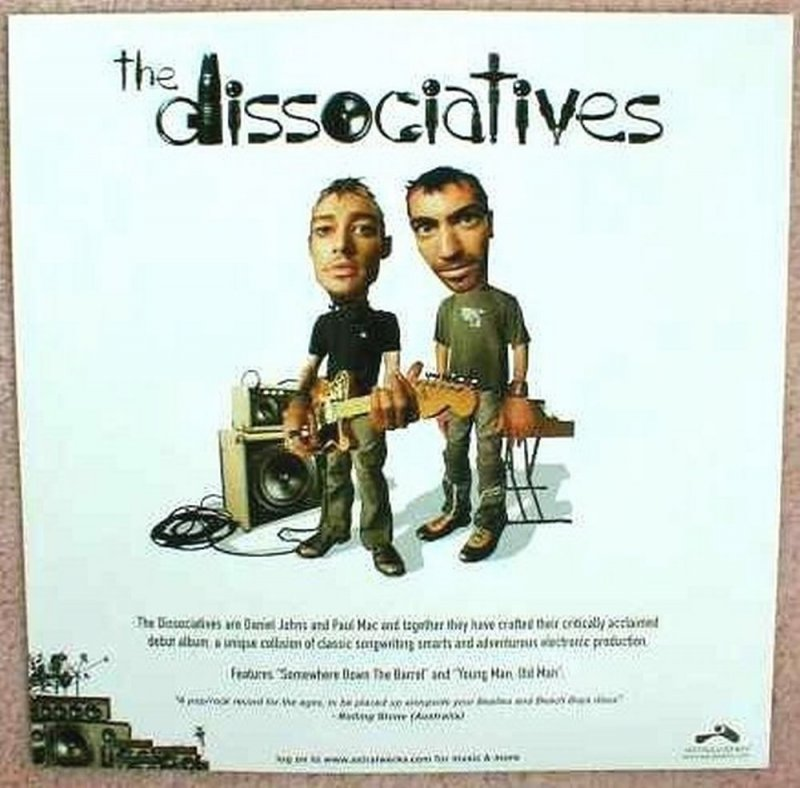 Image 1 of Dissociatives THE DISSOCIATIVES Album POSTER Self-Titled 2-Sided 12x12