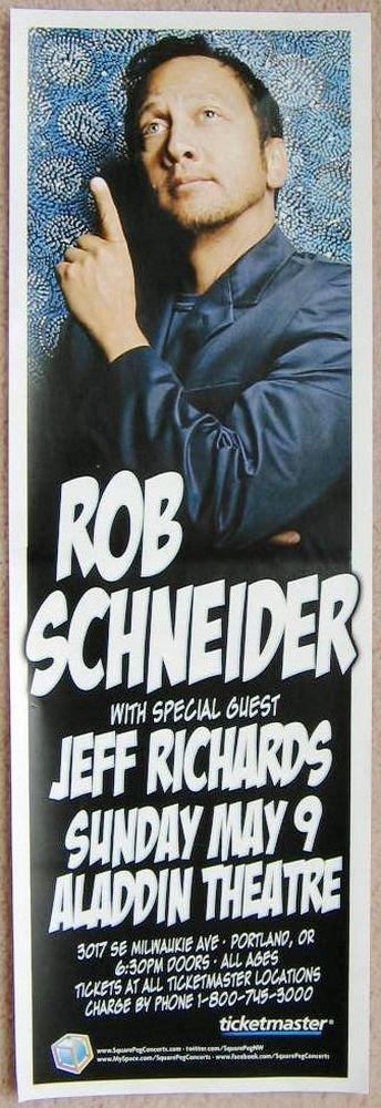 Image 0 of Schneider ROB SCHNEIDER 2010 Gig POSTER Portland Oregon Comedy