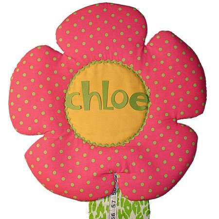 Image 0 of Flower Growth Chart Personalized Kids Fabric Art Designs Decor Growth Charts