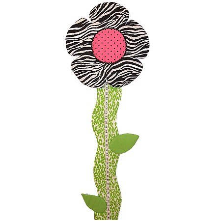 Image 1 of Flower Growth Chart Personalized Kids Fabric Art Designs Decor Growth Charts