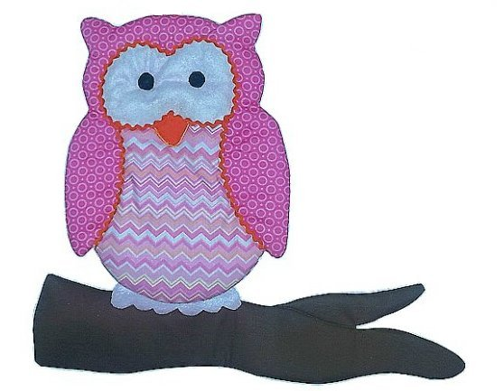 Image 0 of Owl Personalized Kids Fabric Art Designs Decor Growth Charts