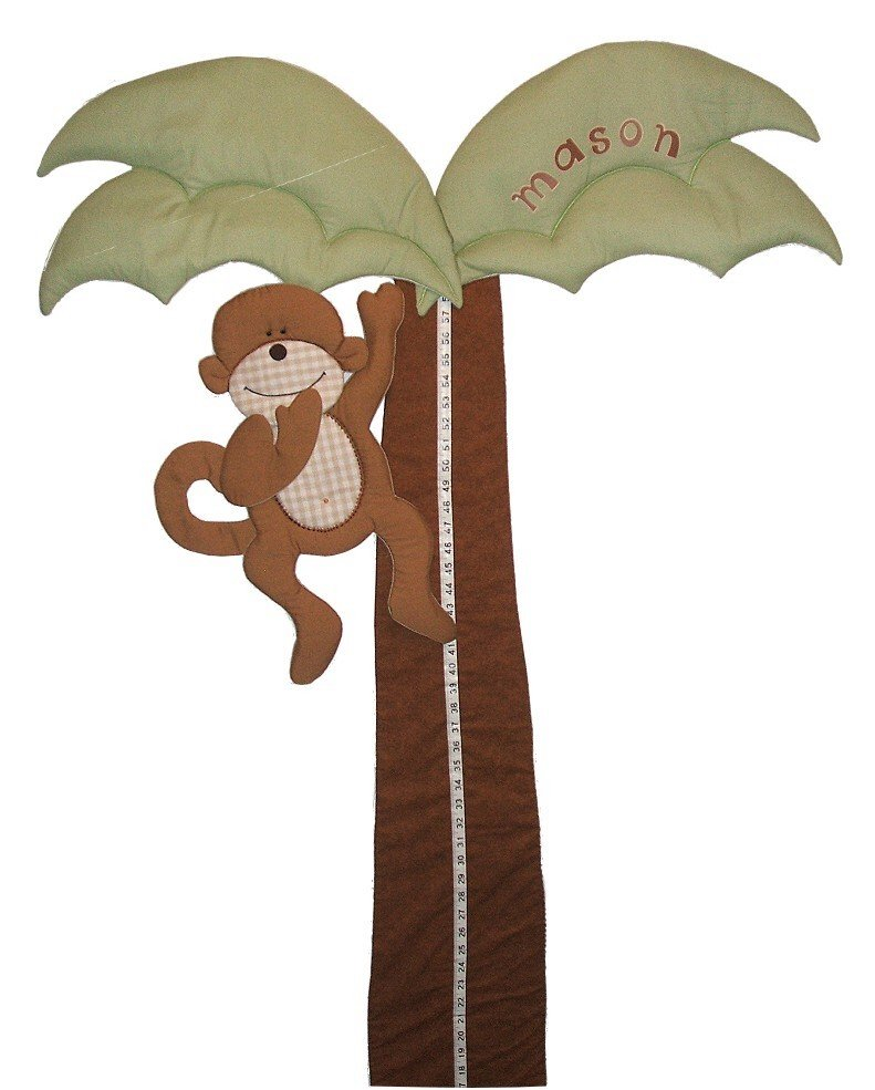 Image 0 of Palm Tree Growth Chart with Monkey