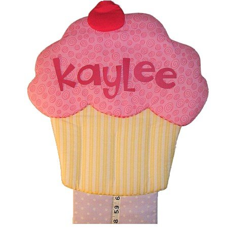 Image 0 of Cupcake Growth Chart Personalized Kids Fabric Art Designs Decor Growth Charts