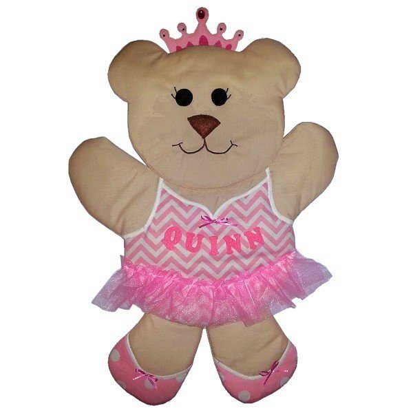 Image 0 of Ballet Bear Personalized Kids Fabric Art Designs Decor Growth Charts