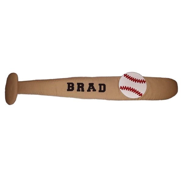 Baseball Bat Personalized Kids Fabric Art Designs Decor Growth Charts