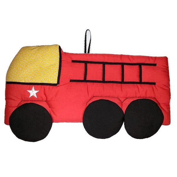 Image 0 of Firetruck Personalized Kids Fabric Art Designs Decor Growth Charts